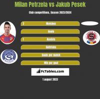 Milan Petrzela vs Jakub Pesek h2h player stats