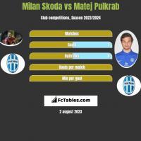Milan Skoda vs Matej Pulkrab h2h player stats