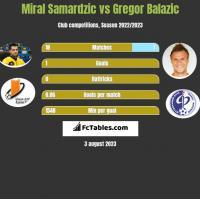 Miral Samardzic vs Gregor Balazic h2h player stats