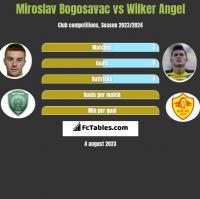 Miroslav Bogosavac vs Wilker Angel h2h player stats