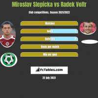 Miroslav Slepicka vs Radek Voltr h2h player stats