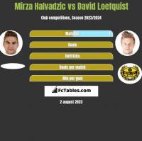 Mirza Halvadzic vs David Loefquist h2h player stats