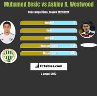 Muhamed Besic vs Ashley R. Westwood h2h player stats