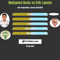 Muhamed Besić vs Erik Lamela h2h player stats