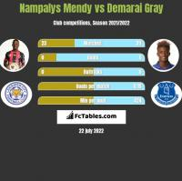 Nampalys Mendy vs Demarai Gray h2h player stats