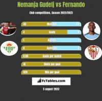 Nemanja Gudelj vs Fernando h2h player stats