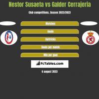 Nestor Susaeta vs Galder Cerrajeria h2h player stats