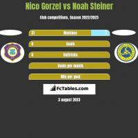 Nico Gorzel vs Noah Steiner h2h player stats