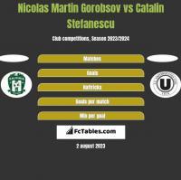 Nicolas Martin Gorobsov vs Catalin Stefanescu h2h player stats