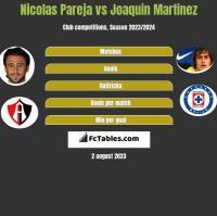 Nicolas Pareja vs Joaquin Martinez h2h player stats