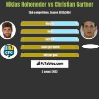 Niklas Hoheneder vs Christian Gartner h2h player stats