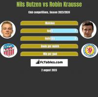 Nils Butzen vs Robin Krausse h2h player stats