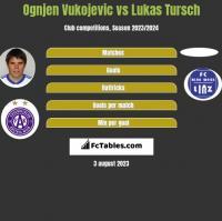 Ognjen Vukojevic vs Lukas Tursch h2h player stats
