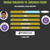 Ognjen Vukojevic vs Johannes Handl h2h player stats