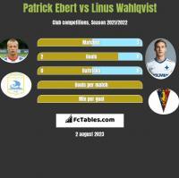 Patrick Ebert vs Linus Wahlqvist h2h player stats
