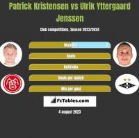 Patrick Kristensen vs Ulrik Yttergaard Jenssen h2h player stats