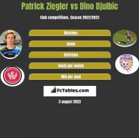 Patrick Ziegler vs Dino Djulbic h2h player stats