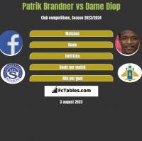 Patrik Brandner vs Dame Diop h2h player stats