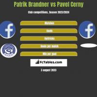 Patrik Brandner vs Pavel Cerny h2h player stats