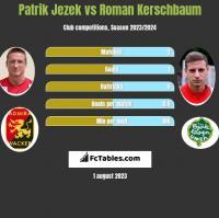 Patrik Jezek vs Roman Kerschbaum h2h player stats