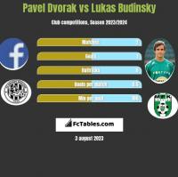 Pavel Dvorak vs Lukas Budinsky h2h player stats
