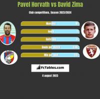Pavel Horvath vs David Zima h2h player stats