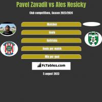 Pavel Zavadil vs Ales Nesicky h2h player stats