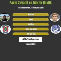 Pavel Zavadil vs Marek Havlik h2h player stats