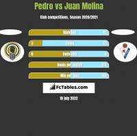 Pedro vs Juan Molina h2h player stats