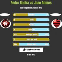 Pedro Rocha vs Joao Gomes h2h player stats