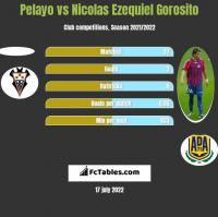 Pelayo vs Nicolas Ezequiel Gorosito h2h player stats
