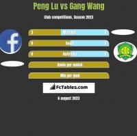 Peng Lu vs Gang Wang h2h player stats