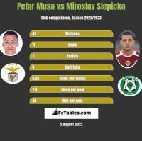 Petar Musa vs Miroslav Slepicka h2h player stats
