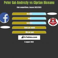 Peter Gal-Andrezly vs Ciprian Biceanu h2h player stats