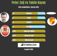 Peter Zulj vs Yalcin Kayan h2h player stats