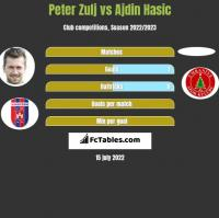 Peter Zulj vs Ajdin Hasic h2h player stats