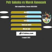 Petr Galuska vs Marek Hanousek h2h player stats