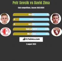 Petr Sevcik vs David Zima h2h player stats