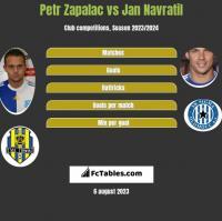 Petr Zapalac vs Jan Navratil h2h player stats