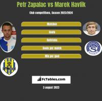 Petr Zapalac vs Marek Havlik h2h player stats