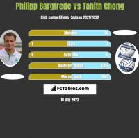 Philipp Bargfrede vs Tahith Chong h2h player stats