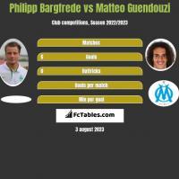 Philipp Bargfrede vs Matteo Guendouzi h2h player stats