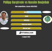 Philipp Bargfrede vs Nassim Boujellab h2h player stats