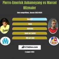 Pierre-Emerick Aubameyang vs Marcel Ritzmaier h2h player stats