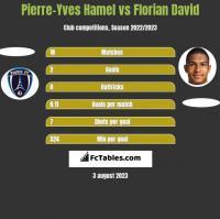 Pierre-Yves Hamel vs Florian David h2h player stats
