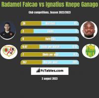 Radamel Falcao vs Ignatius Knepe Ganago h2h player stats