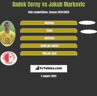 Radek Cerny vs Jakub Markovic h2h player stats