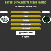 Raffael Behounek vs Armin Hamzic h2h player stats