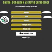 Raffael Behounek vs David Bumberger h2h player stats