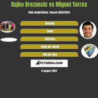 Rajko Brezancic vs Miguel Torres h2h player stats